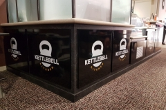 Counter panel wrapping and branding