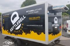 Kettlebell fridge unit wrapping and signage