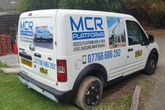 MCR Platforms Van Signwriting