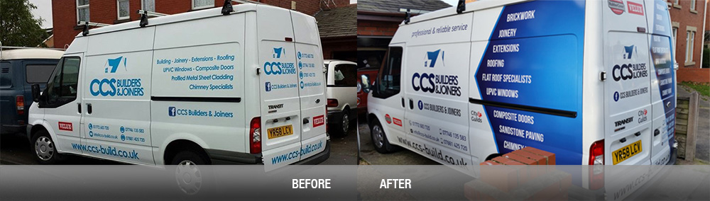 Before and After CCS van