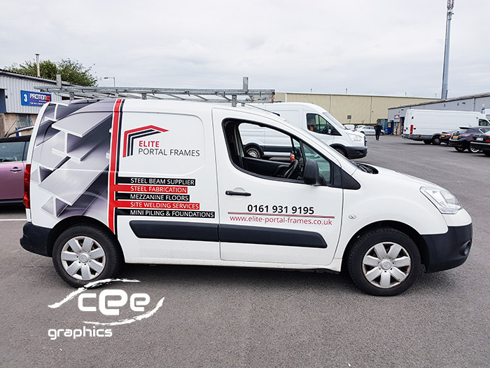 Van Signwriting For Elite Portal Frames Cee Graphics