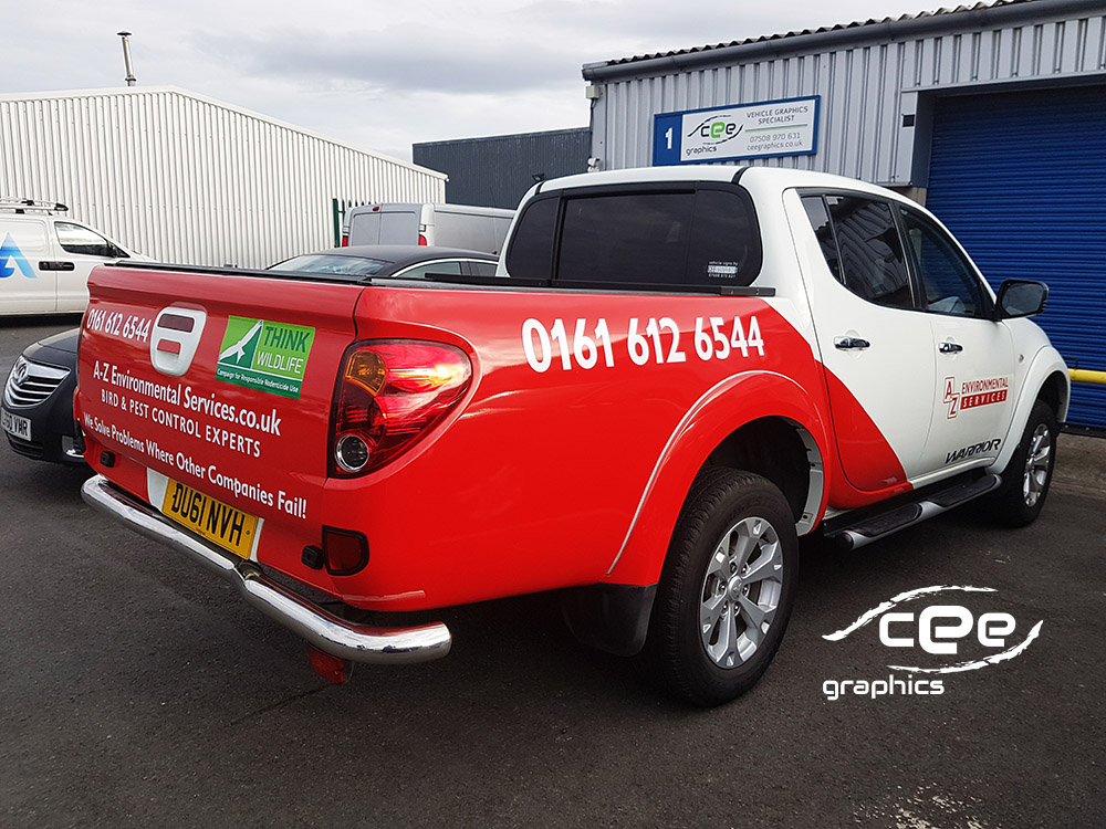 vehicle wrapping Manchester - Pick-up wrapping