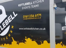 Kettlebell Kitchen design, signage and wrapping