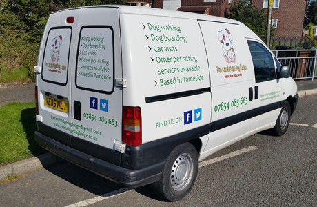 The Cambridge Dog Lodge Van Signs