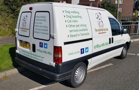 The Cambridge Dog Lodge Van Signs